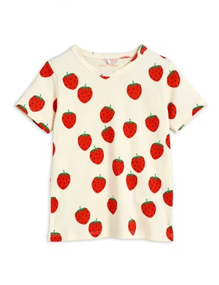 Strawberry aop ss tee - Offwhite