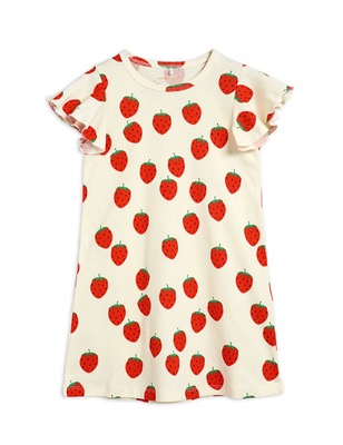 Strawberry aop wing dress - Offwhite
